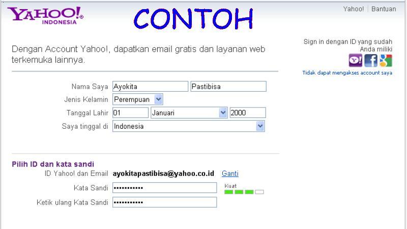 Cara membuat email yahoo | gallery